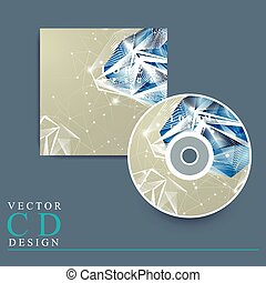 CD cover with diamond element - modern design for CD cover...