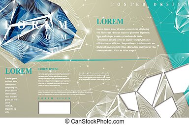 poster template with diamond element - modern design for...