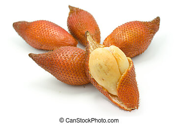Salak fruit, Salacca ,zalacca on white background