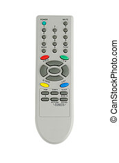 Tv remote control isolate on white background
