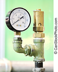 Industrial Pressure Gauge - Pressure measuring instrument -...