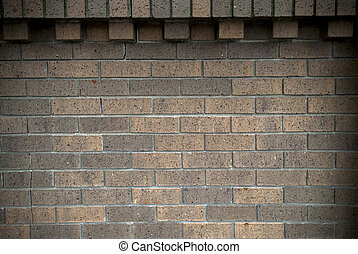 brick fence background - brown brick wall fence background