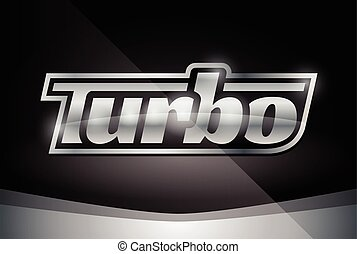 Chrome silver vehicle turbo badge - Chrome Vehicle Turbo...