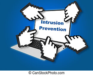 Intrusion Prevention concept - Render illustration of...