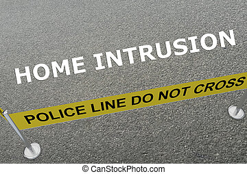 Home Intrusion concept - Render illustration of Home...