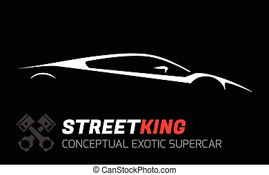 Concept exotic supercar Silhouette - Conceptual Vehicle -...