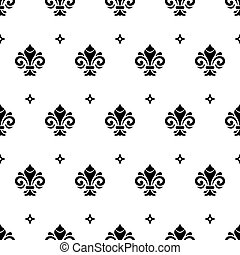 Seamless Vector Pattern With Royal Lily