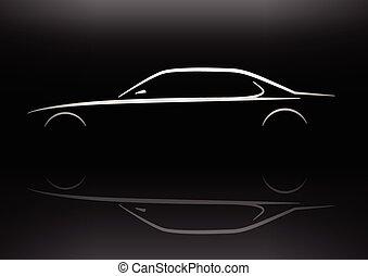 Concept sports sedan car silhouette