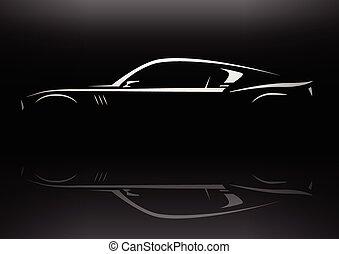 Concept muscle car silhouette - Original conceptual muscle...