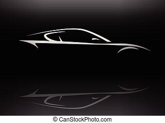Eps Vectors Of Concept Muscle Car Silhouette Conceptual