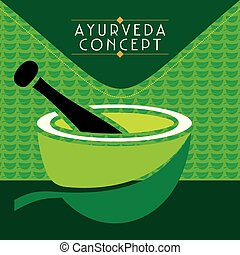 ayurveda concept  - creative ayurveda concept vector
