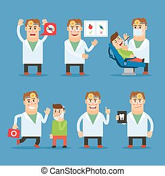 Dentist doctor vector character - Dentist doctor character...