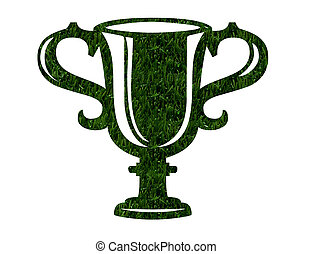Environmentally Friendly Award - A trophy in green grass...