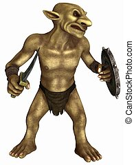 Fantasy Figure - Goblin - 3D Render of an Fantasy Figure -...