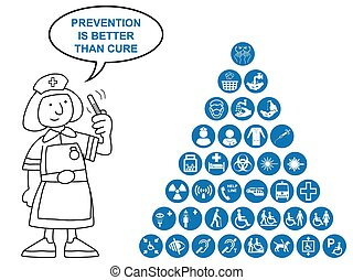 Blue Medical and health care Icon c
