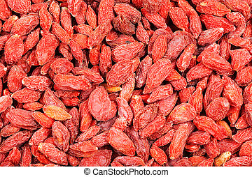 dried red goji berries - food background - dried red goji...