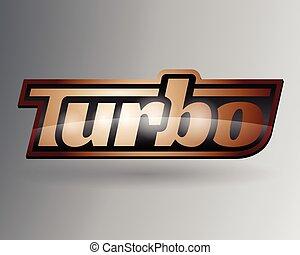 Vehicle turbo badge emblem