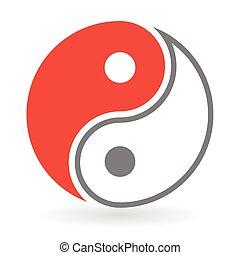 Yin Yang Symbol icon - Vector - Yin Yang Symbol icon vector...