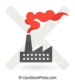 Industrial Air Pollution Concept - Vector - Industrial Air...