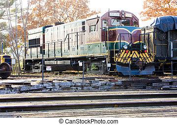 motor locomotive, Railroad Museum, North Conway, New Hampshire, USA