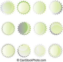set of web buttons - set of color green web buttons Vector...