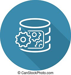 Data Processing Icon Flat Design Business Concept Isolated...