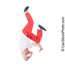 adolescent, danse, coupure, danse, dans, action,