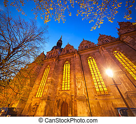 Colorful evening view of Holy Trinity Church in Wolfenbuttel...