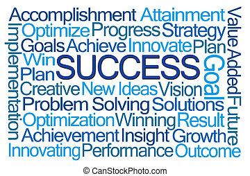 Success Word Cloud on White Background