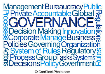 Governance Word Cloud on White Background