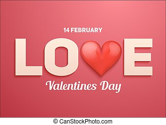 Valentines day background with Love and heart