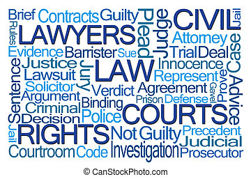 Law Word Cloud on White Background