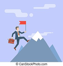 Successful Businessman. Business concept vector illustration