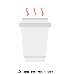 Hot coffee cup, flat style, vector illustration Coffee to go...