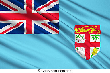 Flag of Fiji, Suva - Melanesia - The national flag of Fiji,...
