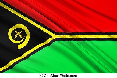 bandiera, di, Vanuatu, Melanesia,