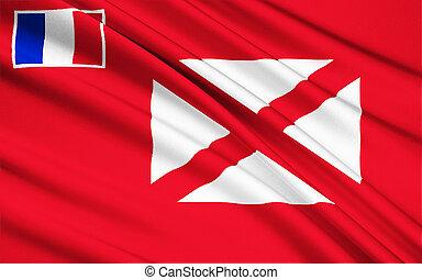 Flag of Wallis and Futuna (France), Mata-Utu - Polynesia -...