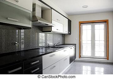 Kitchen - Interior of modern kitchen in a new apartment
