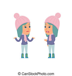 Frustrated Character Winter Girl can not help to solve the problem