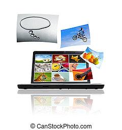 Photos on Laptop