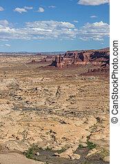 vista, De, carretera, 95, en, Utah,