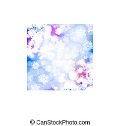 Bokeh lights background with snowflakes