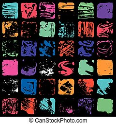 Color ink blots collection of grunge texture vector illustration