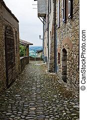 Alleyway. Vigoleno. Emilia-Romagna. Italy.