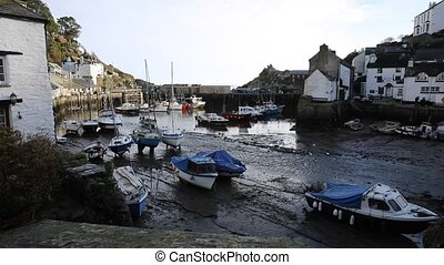 English harbour Polperro Cornwall South West England UK out...
