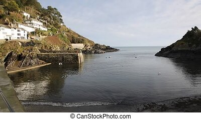 Harbour coast entrance Cornwall uk - Harbour and coast...