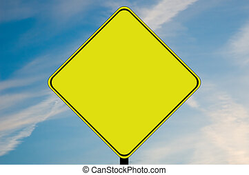 Blank caution sign - A blank caution sign with room for...