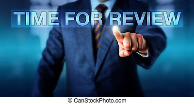 HR Manager Pressing TIME FOR REVIEW - HR manager is pressing...