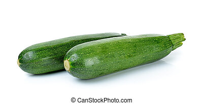 Zuchini isolated on the white background .