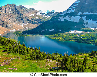 Hidden Lake Glacier National Park - Spectacular aerial view...